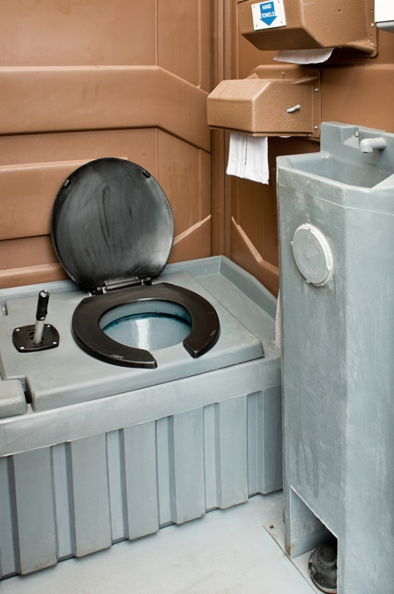 Portable site toilet interior