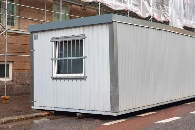 Portable cabin installation